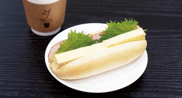 白いサンドイッチ